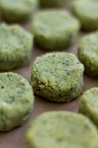 herbaceous falafel before being fried